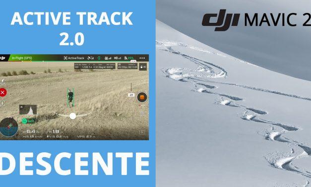 Mavic 2 – Active Track 2.0 : Le suivi en descente