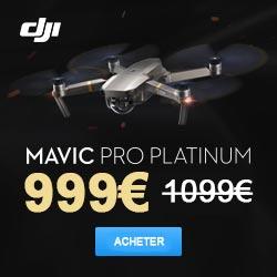 Promotion Mavic pro platinum DJI pas cher en solde