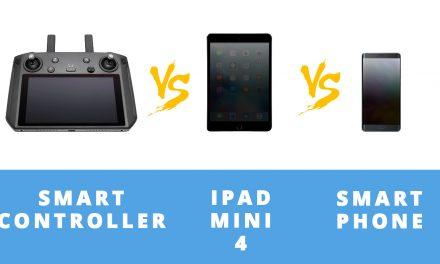 DJI SMART CONTROLLER vs IPAD MINI 4 vs SMARTPHONE