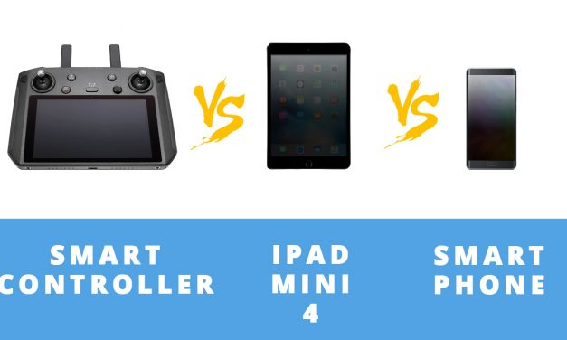DJI SMART CONTROLLER vs IPAD MINI 4 vs SMARTPHONE