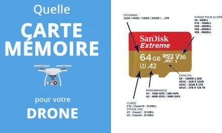 Quelle carte mémoire utiliser avec votre drone