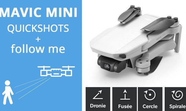 DJI Mavic Mini : Les modes de vol quickshots et test de suivi en tracking