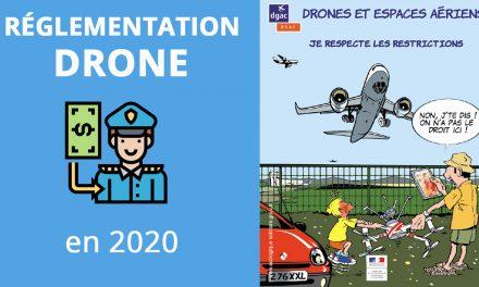 Réglementation drone pour (début) 2020 – Amendes et obligations