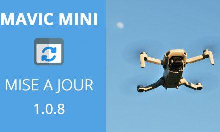 MAVIC MINI : MISE A JOUR 1.0.8 (Alertes vent fort + Balance des blancs).
