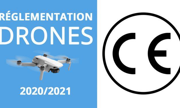 RÉGLEMENTATION DRONE 2020/2021 : Signalement électronique, norme CE, homologation Europe…
