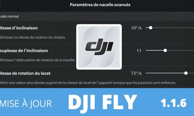 DJI FLY 1.1.6 : Réglages sensibilité de la caméra pour le MAVIC AIR 2 + Informations batterie MAVIC MINI