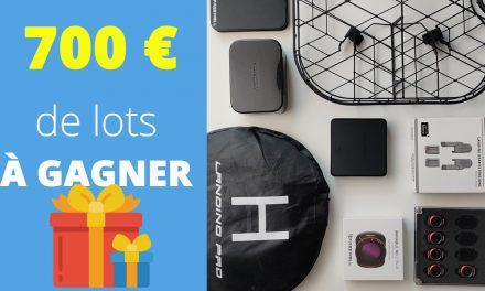 700€ d'accessoires drone et caméra à gagner