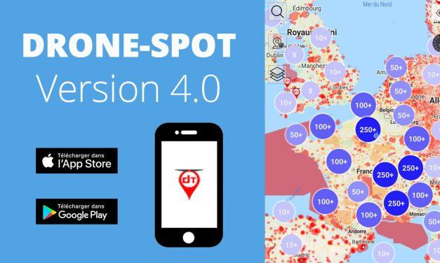 Où faire voler son drone : Drone-Spot, l'application mobile version 4.0