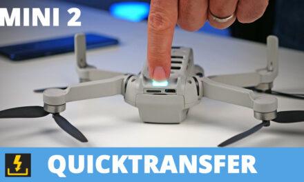 DJI MINI 2 : QUICKTRANSFER pour transférer rapidement vos vidéos sur smartphone