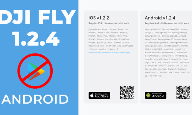 DJI FLY 1.2.4 – Mise à jour Android via le site DJI