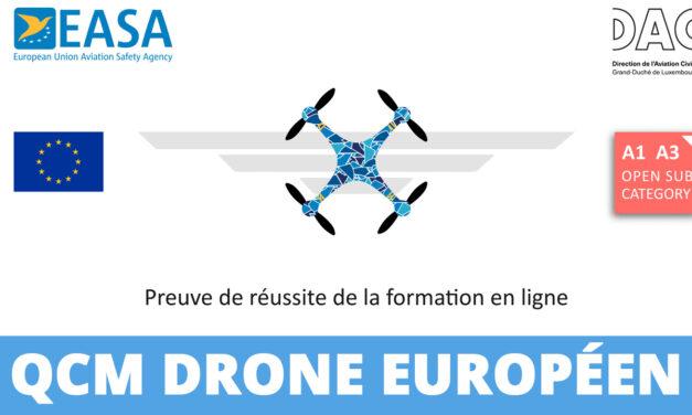 Nouveau QCM drone Européen – Catégorie ouverte A1/A3