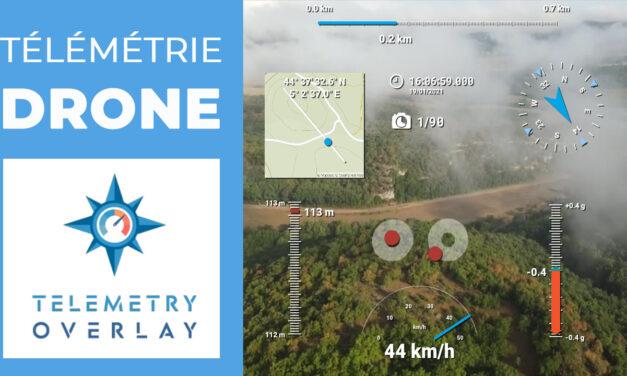 Comment ajouter la télémétrie dans ses vidéos drone avec TELEMETRY OVERLAY