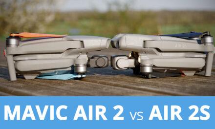 Comparatif entre le DJI AIR 2S et le Mavic Air 2