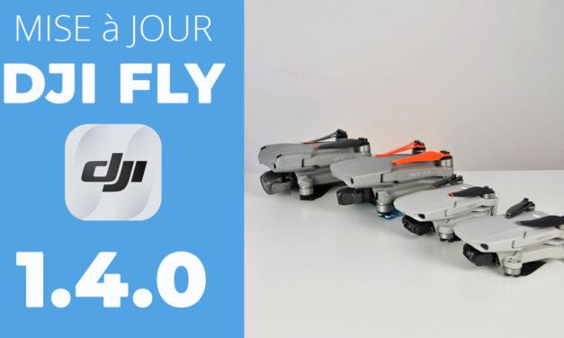 Mise à jour DJI FLY 1.4.0 : Nouveaux réglages et compatibilité des radio commandes (DJI MINI 1et 2 / MAVIC AIR 2 / AIR 2S)