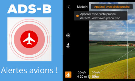 DJI AIRSENSE : L' ADS-B pour être alerté des avions à proximité de votre drone.
