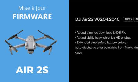 Mise à jour firmware du DJI AIR 2S