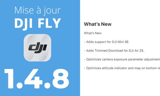 Mise à jour de l'application DJI FLY 1.4.8