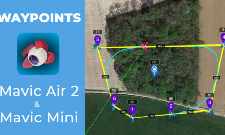 Waypoints avec les drones DJI MAVIC MINI et MAVIC AIR 2 grâce à l'application LITCHI